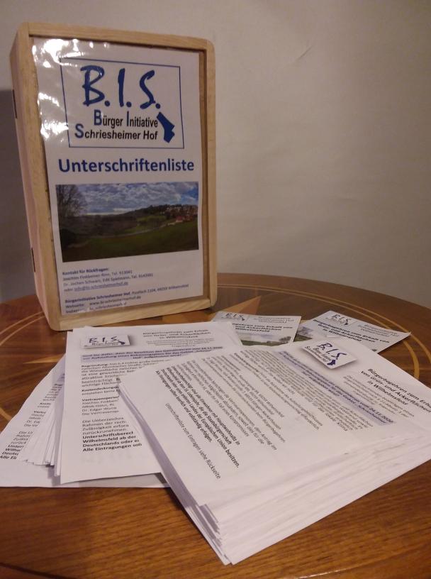 541 Unterschriften konnte die Bürgerinitiative in wenigen Wochen für ihr Bürgerbegehren zum Erhalt von Grün- und Ackerflächen am Schriesheimer Hof einsammeln.