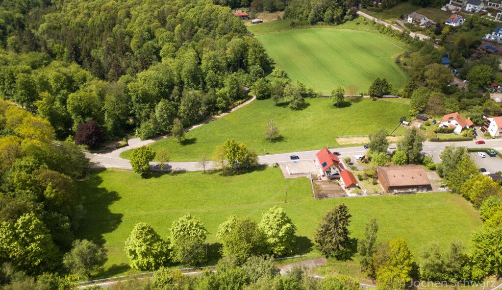 Drohnenfoto vom Plangebiet Schriesheimer Hof